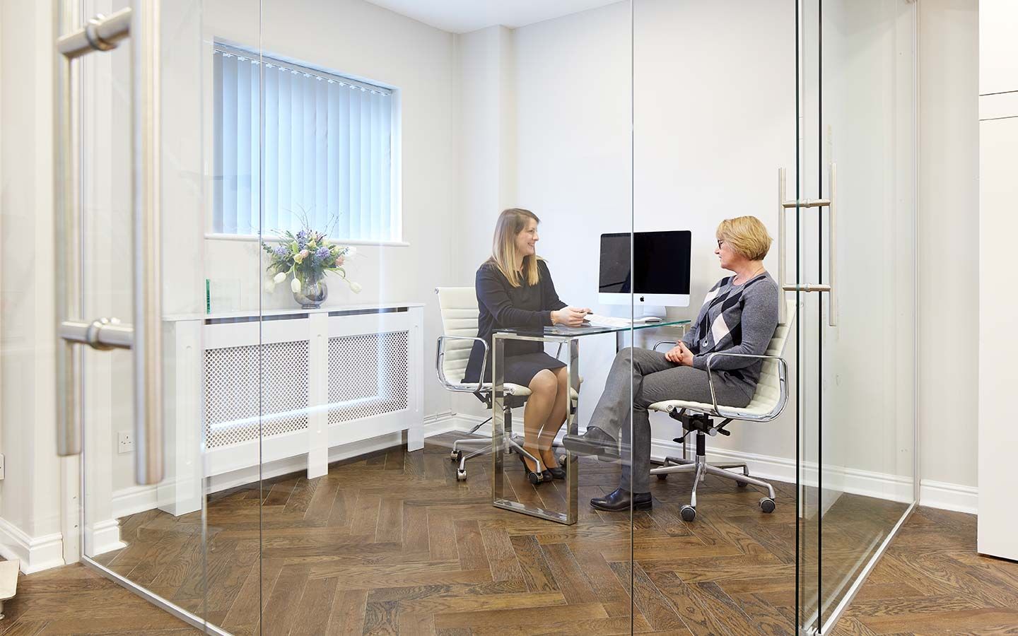 Patient consultation at Fusion Dentistry
